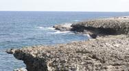 Curacao Lava Coastline Stock Footage