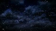 Snowstorm animation background plate Stock Footage