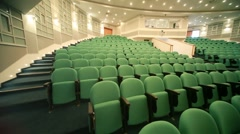 panning of empty auditorium with seats - stock footage