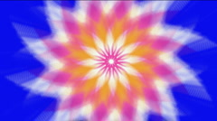 Abstract whirl gear flower pattern background,light space windmill energy. Stock Footage