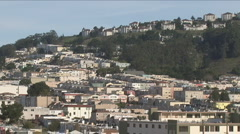 San Francisco area neighborhoods Stock Footage