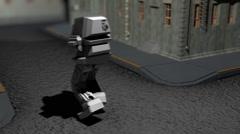 T304 dancing mech dance robot ai robotic strange odd wonderful Stock Footage