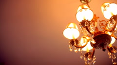 T304 home decor decoration chandelier household house interior Stock Footage