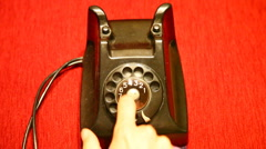 Retrovial phone dialing HD 1080p Stock Footage