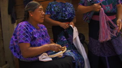 Mayan lady embroider3 Stock Footage