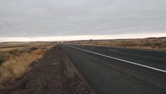 Truck on Desert Highway - stock footage