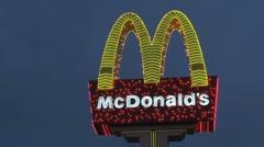 Mc donald's signLas Vegas at night Stock Footage