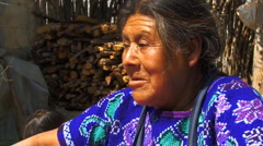 Mayan lady weeving10 Stock Footage