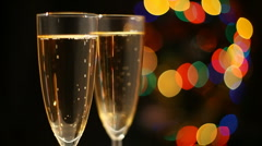 Glasses of champagne - stock footage
