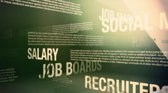Job Search Related Words Background Loop HD - stock footage