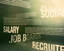 Job Search Related Words Background Loop PAL - stock footage