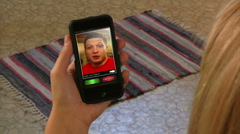 Video Chatting on Smartphone 1996 - stock footage