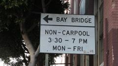 Carpool Sign Stock Footage