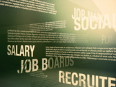 Job Search Related Words Background Loop NTSC Stock Footage