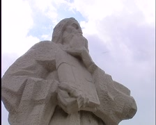 Sculpture in Bulgaria low point of view Stock Footage