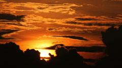 yellow sun set - stock footage