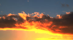 Close up Sunset Stock Footage