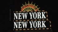 Stock Video Footage of New York, New York sign Las Vegas at night