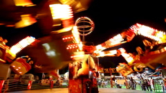 Carnival ride 9 Stock Footage