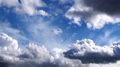 Stock Video Footage of Sky Big Clouds Rev