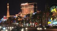 Las Vegas at night Stock Footage