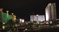 Las Vegas at night Stock Footage
