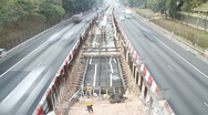 Road construction projects in Hong Kong Stock Footage