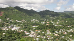 Stock Video Footage of Mountain Terrain of Grenada