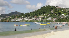 Stock Video Footage of Grand Anse Beach, Grenada