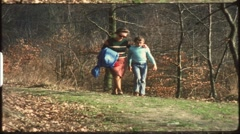 Familiy hike time-lapse (vintage 8 mm amateur film) Stock Footage
