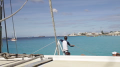 Catamaran Sail, POV Stock Footage
