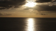 Stock Video Footage of Sunset over the sea, Vanilla Sky