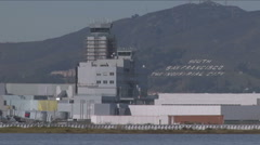 Control tower at San Francisco Airport Stock Footage
