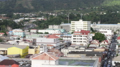 Pan shot of Roseau, Dominica Stock Footage