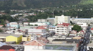 Stock Video Footage of Pan shot of Roseau, Dominica