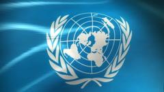 United Nations Flag - HD Loop Stock Footage