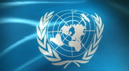 Stock Video Footage of United Nations Flag - HD Loop