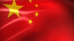 China Flag - HD Loop Stock Footage