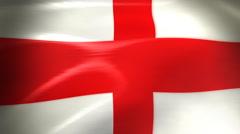 England Flag - HD Loop Stock Footage