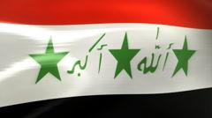 Iraq Flag - HD Loop Stock Footage