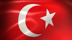 Turkey Flag - HD Loop Stock Footage