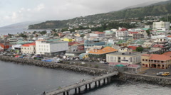 Roseau, Dominica pier Stock Footage