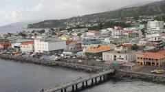Roseau, Dominica pier - stock footage