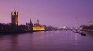 Houses of Parliament, River Thames, London, England Stock Footage