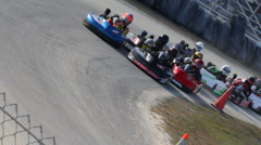 Go Kart race start, December 2010 - stock footage
