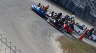 Stock Video Footage of Go Kart race start, December 2010