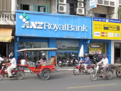 CAMBODIA-ANZ ROYAL BANK-TRAFFIC Stock Footage