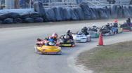 Stock Video Footage of Go Kart racing, December 2010