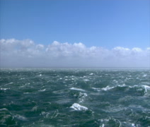 Stock Video Footage of Stormy seas Wide