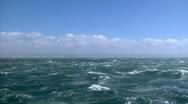 Stormy seas Wide Stock Footage
